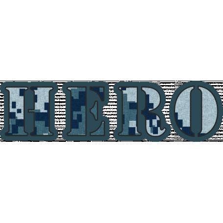 Navy Hero Word Art