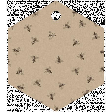 Bee Hexagon Tag
