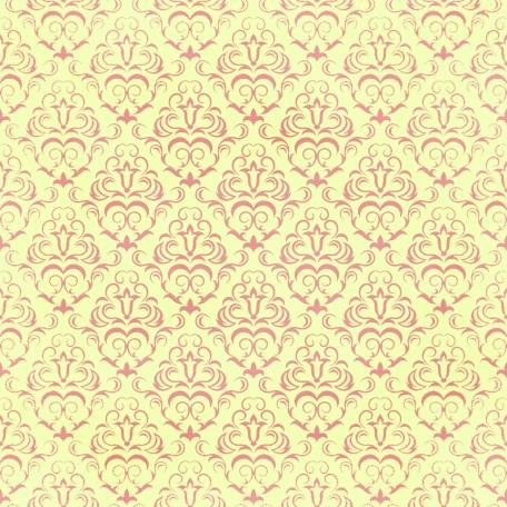 Damask Paper - Yellow & Pink