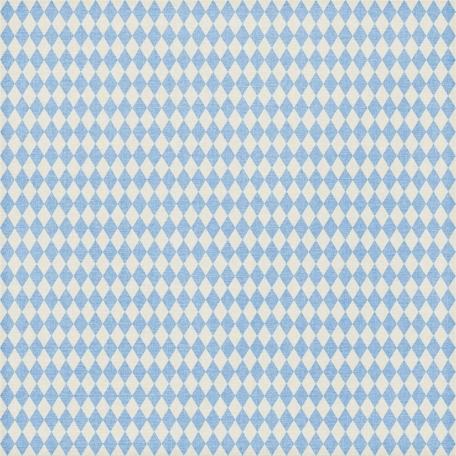 Argyle 09 Paper - Light Blue & White