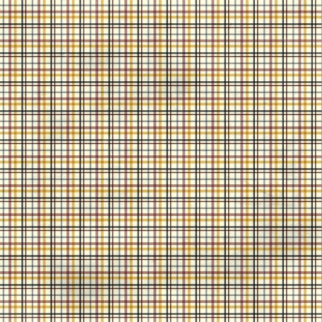 Plaid Paper - Yellow, Navy, Maroon