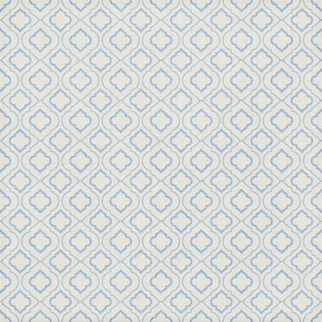 Quatrefoil 08 Paper - Light Blue & White