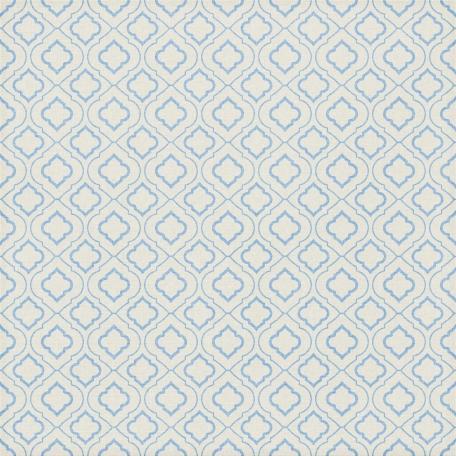 Quatrefoil 08 Paper - Light Blue & White