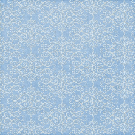 Paper 024 - Damask - Blue & White