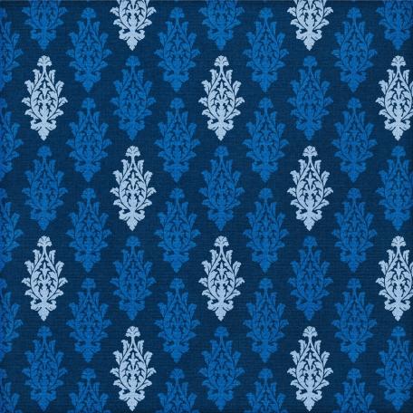 Paper 023 - Damask - Blue