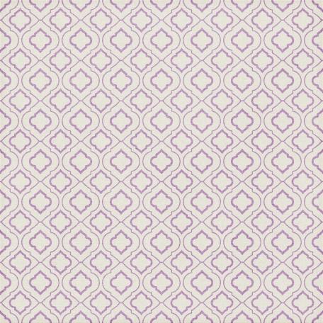 Quatrefoil 08 Paper - Lilac & White