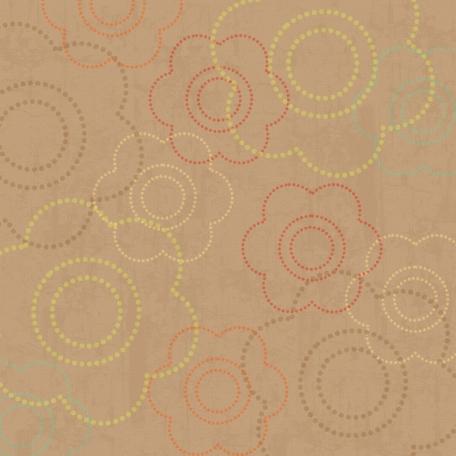 Floral 23 Paper - Tan