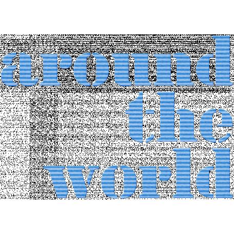 Around the World Word Art