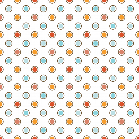 Polka Dots 26 Transparency - Orange & Red