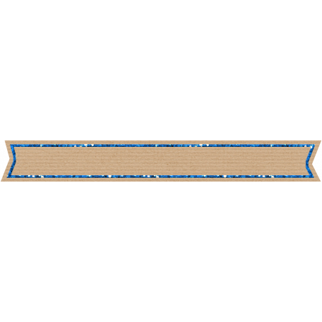 Birthday Banner Tag - Blue