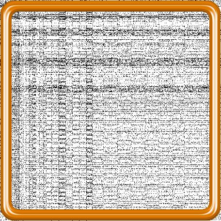 Birthday Frame - Orange