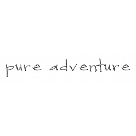 Pure Adventure - metal word art