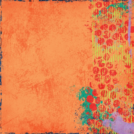 Challenged Paper - Orange Grunge 70