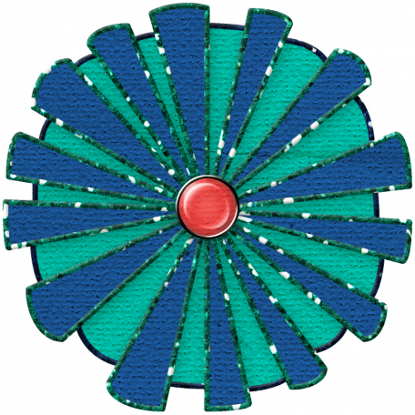 Challenged Paper Flower - Blue & Green
