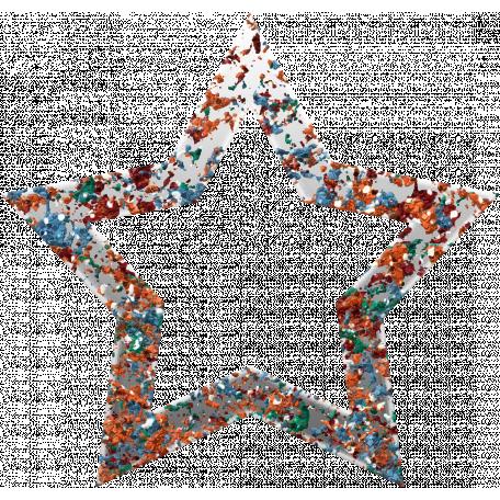 Challenged Star 02 - Glitter Grunge