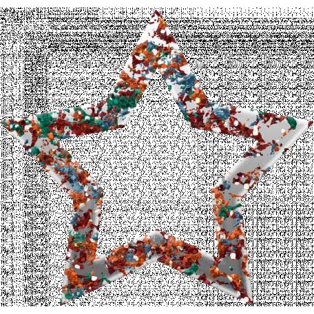 Challenged Star 04 - Glitter Grunge