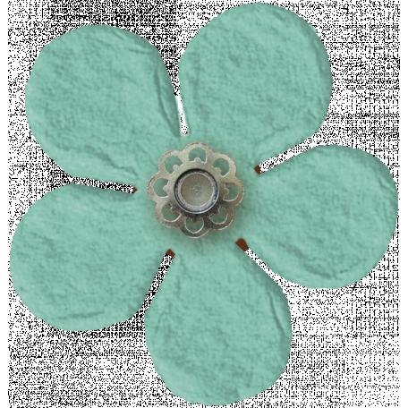 Taiwan Paper Flower - Blue