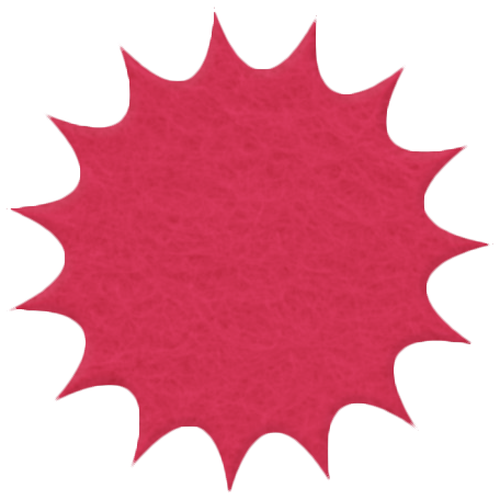 Change Felt Flower Burst - Red