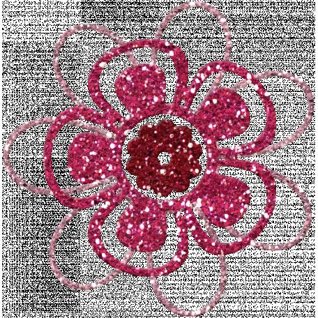 DSF June 2013 Blog Train - Glitter Flower