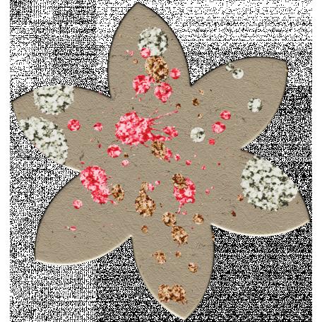 Cardboard Flower - Splattered