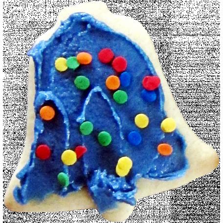 Christmas Cookies - Sprinkled Bell