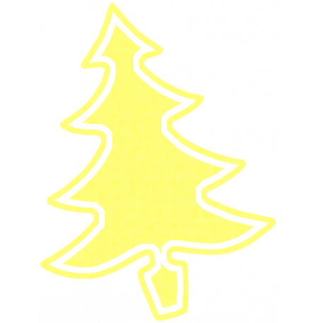 Christmas Cookies - Yellow Tree