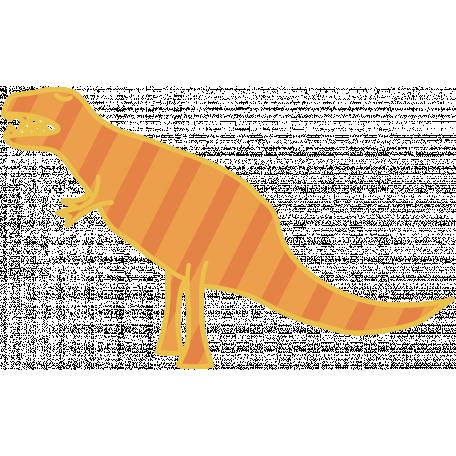Dinosaurs - T Rex - Orange & Striped