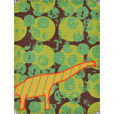 Dino Journal Card - Long Neck Dinosaur