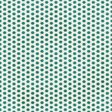 Dino Paper - Teal Hexagon