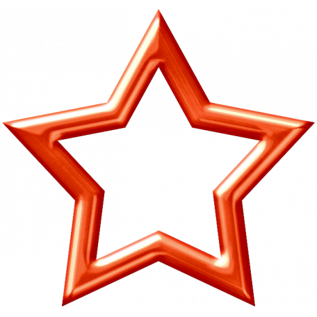 Dino Star - Reddish Orange Metallic