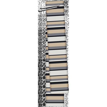 Berlin Striped Folded Ribbon
