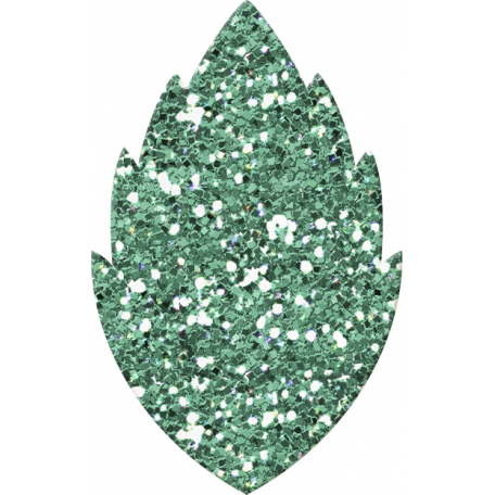 Cambodia Light Blue Glitter Leaf