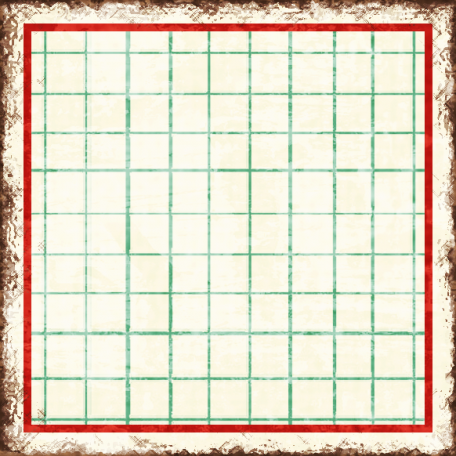 Cambodia Grid Tag - Square Small Grunge