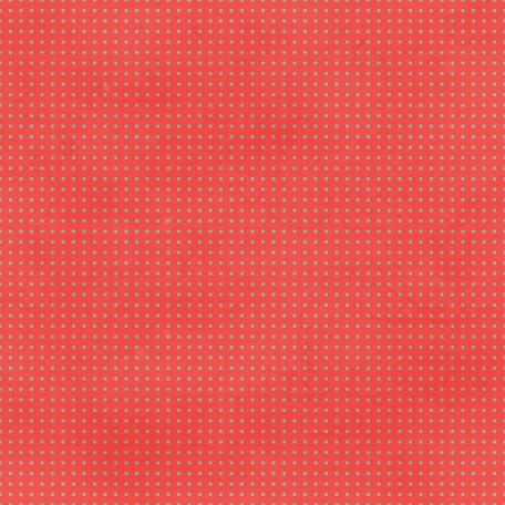 Cheer Coral & Teal Polka Dot Paper