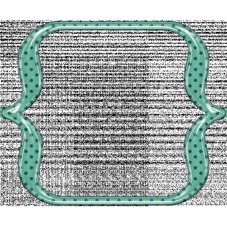 Cheer Bracket Frame - Green & Navy Blue