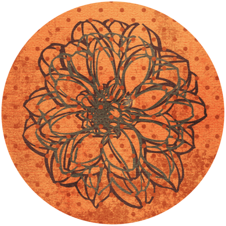 Discover Circle - Floral Orange
