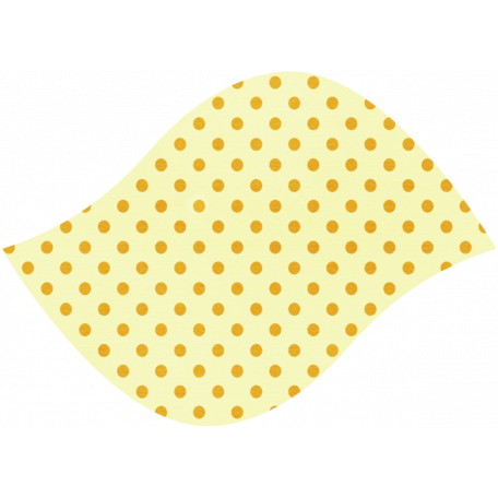 Discover Leaf Large - Cream & Polka Dot