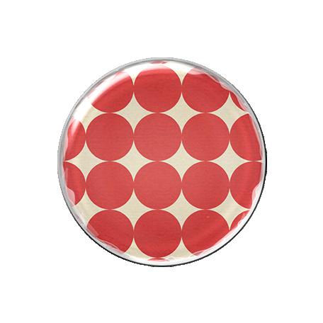 Malaysia Plastic Brad - Red Polka Dots