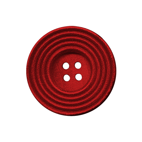 Malaysia Button - Red With Four Holes