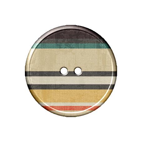 Malaysia Plastic Button - Striped