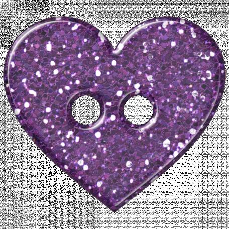 DSF Aug 2012 Button - Heart Purple