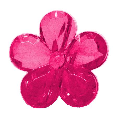 Pink Plastic Flower