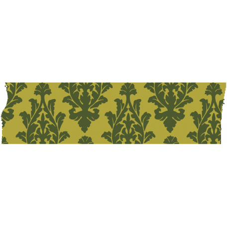 Green Filigree Masking Tape