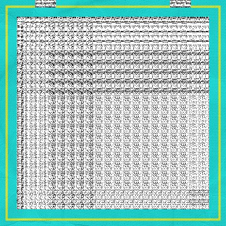 Inspire Frame - Aqua & Yellow