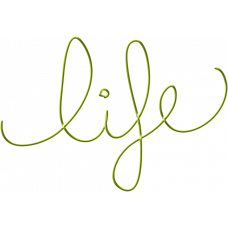 Inspire Word Art - Life Green