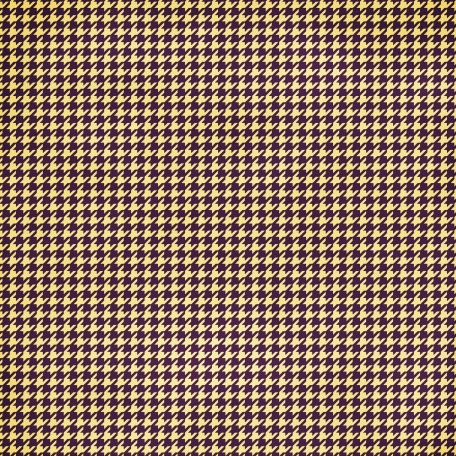 Houndstooth - yellow/purple