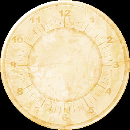 Clock - Light Tan