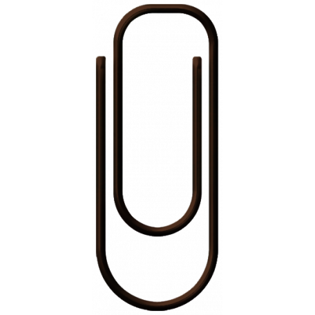 Family Game Night Paper Clip - Brown