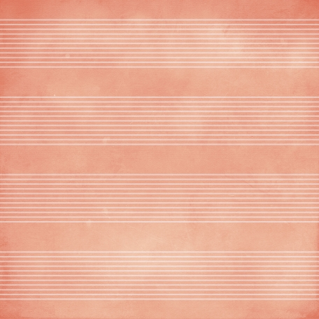 Family Game Night Striped Paper - Coral & Pink
