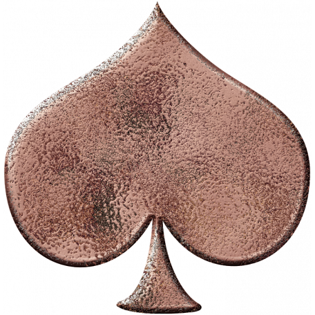 Metal Card Shapes - Spade Pink